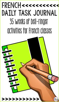 Journal du matin French bell ringer activities for an ENTIRE year bell ringers French Teaching Resources, Teaching French, Teaching Themes, Teaching Spanish, French Classroom Decor, Classroom Ideas, Classroom Routines, Classroom Activities, End Of Year Activities