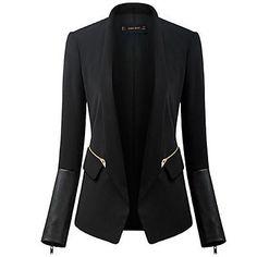 Langarmet+T-skjorte+huden+ren+farge+ol+fashion+dress+jakke+frakk+–+NOK+kr.+254