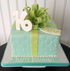 Sweet Sixteen Gift Box Cake By BBSpecialtyCakes on CakeCentral.com