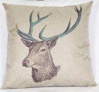 Wish | Deer head Square pillow cover Sofa pillow cushion waist pillowcase