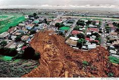 HOLY MOLY!   A mudslide in La Conchita, Calif., is shown Monday, Jan. 10, 2005. The huge mudslide crashed down on homes, killing at least one person and leaving up to 12 missing as a Pacific storm hammered Southern California for a fourth straight day. (AP Photo/Ventura County Star, Gary Phelps) Photo: GARY PHELPS / SF
