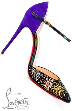 Brilliant Luxury ♦Christian Louboutin 'Rivierina On Fire Veau Velours'