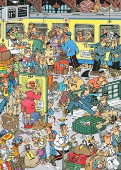 Jan van Haasteren, Train - Swedish cartoonist van Haasteren is probably the all time master of the cartoon jigsaw puzzle. His puzzles are prized by jigsaw enthusiasts worldwide who consider him something of a rockstar. Cheap Hobbies, Hobbies For Men, Hobbies That Make Money, Fun Hobbies, Hobbs New Mexico, Hobby Kids Games, Puzzle Art, Hidden Pictures, Hobby Photography
