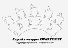 Free Download cupcake wrapper zwarte piet. Door: pipowagen aan zee