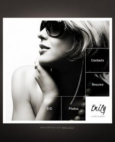 Emily Model Facebook HTML CMS Templates by Delta