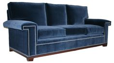 Upholstered in plush combed cotton, this sofa will become the instant focal point of any room. Flanked by L-shape arms accented with elegant nailheads, it can be dressed up or down to match your...