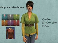 aftopcrewneckcollarshirt defaulted with DeeDee-Sims' 3t2 Belted Sweater!DOWNLOAD