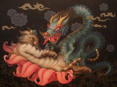 Dragon & Cat (Chinese Zodiac)