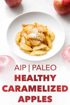 Deliciously simple recipe for Healthy Caramelized Apples will satisfy your sweet tooth. This recipe is allergy friendly and suits the autoimmune protocol (AIP), paleo and vegan diets. Steak And Eggs Diet, Paleo Recipes, Real Food Recipes, Egg And Grapefruit Diet, Boiled Egg Diet Plan, Caramelised Apples, 5 Ingredient Recipes, Eating Eggs, Dieta Paleo