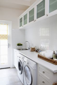 Clean white laundry, like the uppers with opaque glass
