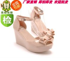 a41b5ddf64091 New arrival 2013 melissa jelly shoes bow platform wedges sandals open toe  high-heeled shoes