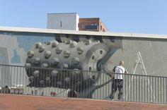 Fresque au Campus gare par Des Friches et des Lettres