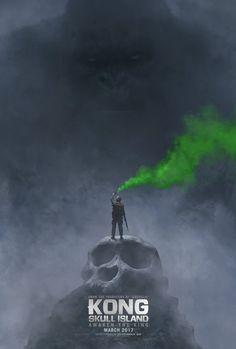 SôNERD & CIA: Kong: Skull island - Pôster Oficial mostra monstro...