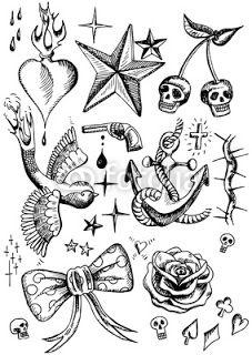 ALL FORMS TATTOS: Wzory tatuaży gwiazda serce ptak kotwica poziomki różna kolce…