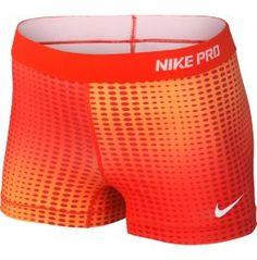 orange nike pro shorts