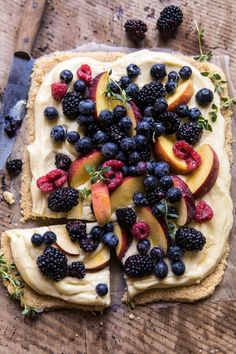 No Bake Mixed Berry Custard Tart. - Half Baked Harvest