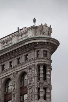 Event Horizon - NYC.....an Antony Gormley sculpture atop the Flatiron Buildingbin New York.
