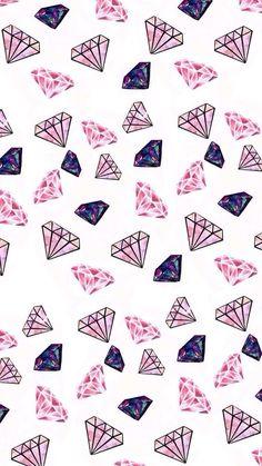 Imagem de diamond, wallpaper, and pink