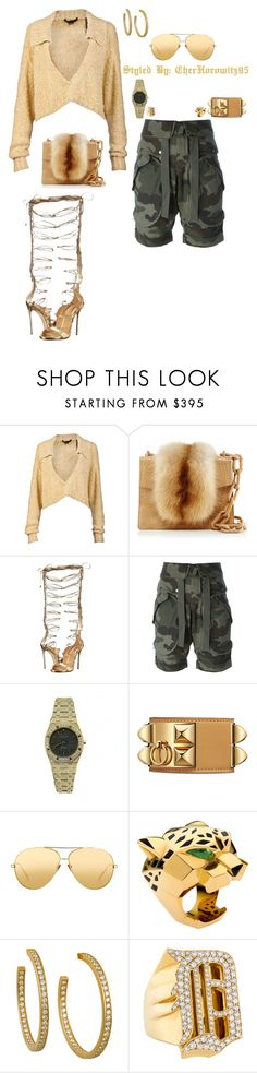 """Untitled #885"" by cherhorowitz95 ❤ liked on Polyvore featuring Alexander Wang, Nancy Gonzalez, Dsquared2, Faith Connexion, Audemars Piguet, Linda Farrow, Cartier and Jacob & Co."