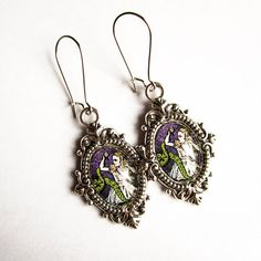 Alice and Cthulhu Earrings Dark altered art gothic by Lumissa