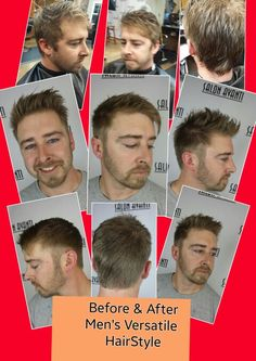 Before & After Men's Versatile Hair Style by Elaine at Salon Avanti