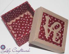 Caixa em MDF (madeira) trabalhada com tecido e patchwork embutido! Love