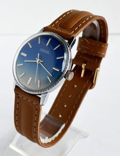 Men's Jeans Vintage Watch 1970s Collectibles USSR #fathersday #watch #forhim #RAKETA #Blue #casual #Hipster #jeans