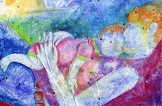 by Beth Parker Mother And Child Painting, Papa Baby, Heart Photography, Mamas And Papas, Mother And Baby, Daydream, Smileys, Ministry, Mixed Media