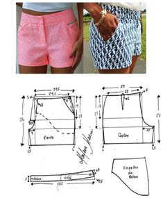 New Free Sewing Patterns shorts Ideas When you sewn outfits, you might be probably going to work with a sewing pattern. So if you feel unsure regar shorts Sewing Shorts, Sewing Clothes, Diy Clothes, Handmade Clothes, Crochet Clothes, Sewing Patterns Free, Free Sewing, Clothing Patterns, Pattern Sewing