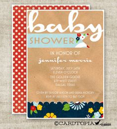 Baby Shower Gender Neutral BABY SHOWER Invitations by Cardtopia Designs