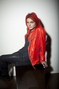 Gerard Way looking sexy as hell in red.