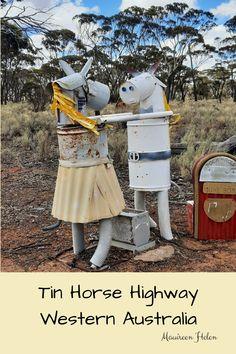 Fun on the Tin Horse Highway Wave Rock, Australian Bush, Good Spirits, Fun At Work, Outdoor Art, Western Australia, Westerns, Tin, To My Daughter