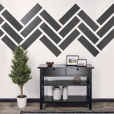 Transform Your Space in Three Steps With A Patterned Accent Wall