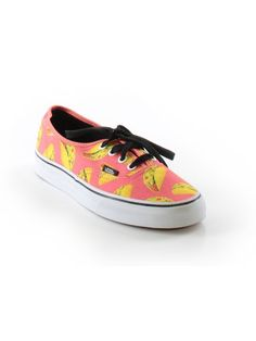 606392a1732 New Vans Late Night Taco Print Lace Up Athletic Sneaker Shoe Size W 6.5 M 5