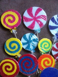 Candyland Birthday Party Decorations- Lollipop Props
