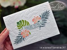 Sue Vine | MissPinksCraftSpot | Stampin' Up!® Australia Order Online 24/7 | Tropical Chic | Banners for You| #tropicalchic #bannersforyou #handmadecard #rubberstamp #stampinup #misspinkscraftspot #suevine