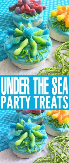 Under the Sea Party Treats – Frugal Mom Eh! These adorable Under the Sea Party Treats are perfect for ocean themed birthday parties. They are a fun and easy treat that kids will adore and they are perfect for Under the Sea Birthday Parties! Birthday Cake Kids Boys, Kids Birthday Themes, 5th Birthday, Birthday Desserts, Birthday Crafts, Birthday Nails, Birthday Cupcakes, Water Birthday Parties, Parties Kids