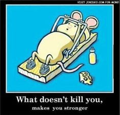 What doesn't kill you makes you stronger. Love the image!