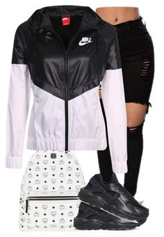 """Untitled #93"" by rxchteeziee ❤ liked on Polyvore featuring MCM and NIKE"