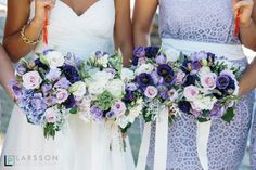 Wedding bouquets by Andrea Crawford Flowers (andreacrawfordflowers.co.nz)