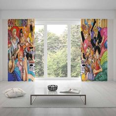 Home Decor One Piece Curtains Cartoon Curtain For Living Room Child Bedroom Curtains Living Room, Living Room Bedroom, Window Decor, Home Decor, Print Bedding, Duvet Cover Sets, Duvet Bedding Sets, Duvet Covers, Kids Bedroom
