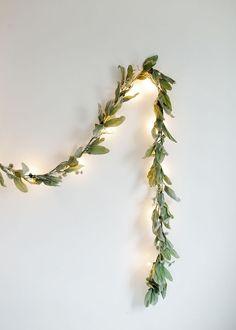 5 diy greenery globe light garland