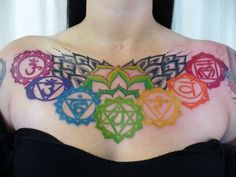 i am gonna do this when i am healthy..... (i will make the blossom more rainbowy....but otherwise omg) Unique Tattoos, Sexy Tattoos, Sleeve Tattoos, Small Tattoos, Collar Tattoo, Cute Tattoos, Beautiful Tattoos, Body Art Tattoos, Girl Tattoos