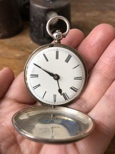 Excited to share this item from my shop: Antique sterling silver pocket watch stamped maker Barrett Portsmouth 31888 made in England signed 1853 Vintage Men, Vintage Items, Leather Bound Books, Silver Pocket Watch, Cameo Necklace, Makers Mark, Portsmouth, Jewelry Watches, Stamp