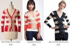 Love the Anthropologie cardigan with lace.