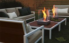 MINI FIRE ONE TABLE Mini T Fireplace and Montego Collection by R&B - modern - patio - other metro - Room & Board