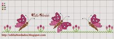 Crafts: Butterfly designs for c . - Crafts: Butterfly cross stitch patterns with embroidery - Butterfly Stitches, Butterfly Cross Stitch, Cross Stitch Heart, Cross Stitch Borders, Cross Stitch Animals, Cross Stitch Designs, Cross Stitching, Cross Stitch Embroidery, Cross Stitch Patterns