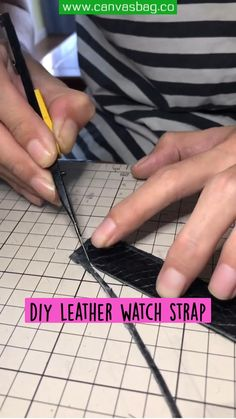 Diy Leather Watch Strap, Leather Bag, Leather Working Tools, Leather Craft Tools, Watches For Men, Crafts, Manualidades, Men's Watches, Handmade Crafts
