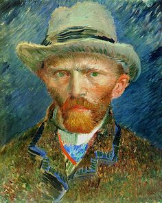 Self-Portrait with a Grey Felt Hat Vincent van Gogh - 1887