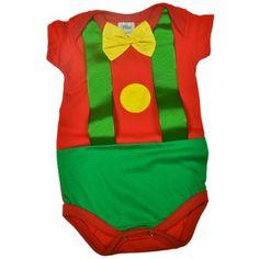 Body fantasia bebê Palhacinho. Moda bebê, Moda Infantil, Roupas de Bebê, roupas Infantis, Fashion Baby, Fashion Kids, bebê roupas, roupas de bebê. www.boobebe.com.br